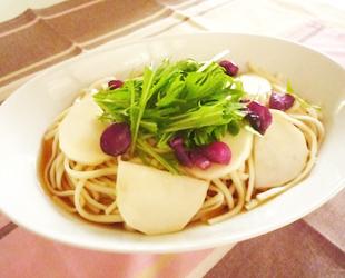 かぶと水菜のサラダうどん