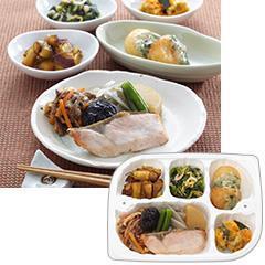いきいき御膳 焼き鮭と根菜の煮物