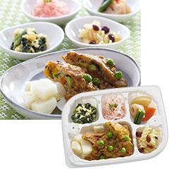 いきいき御膳 炒り豆腐の包み揚げ和風カレーあん