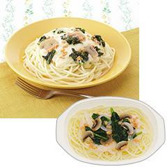 いきいき御膳シリーズ 鮭とほうれん草のクリームスパゲティ