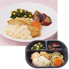 ヘルシー食堂 白身魚の唐揚げ タルタルソース
