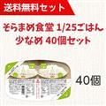 【送料無料】そらまめ食堂 1/25ごはん少なめ 40個セット