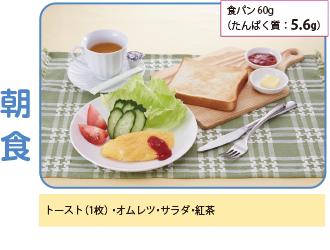 食パン:60g(たんぱく質:5.6g)