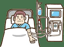 腎臓の機能がある程度まで低下してしまうともとの状態には回復しません