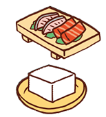 刺身を加熱調理したり、つぶしやすい豆腐や合いびき肉、レバーなどを使うことで時短調理になる