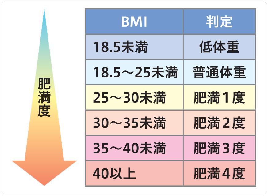 BMIによる肥満度